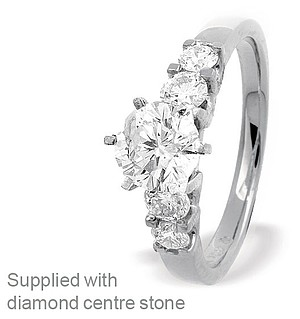 18K White Gold Brilliant Diamond Set Ring Mount