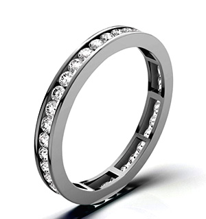 RAE PLATINUM DIAMOND ETERNITY RING 1.00CT H/SI