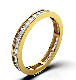 RAE 18K GOLD DIAMOND ETERNITY RING 1.00CT H/SI