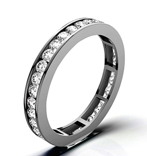 RAE 18K WHITE GOLD DIAMOND ETERNITY RING 1.50CT G/VS