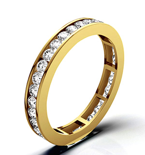 RAE 18K GOLD DIAMOND ETERNITY RING 1.50CT G/VS