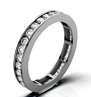 RAE PLATINUM DIAMOND ETERNITY RING 2.00CT H/SI