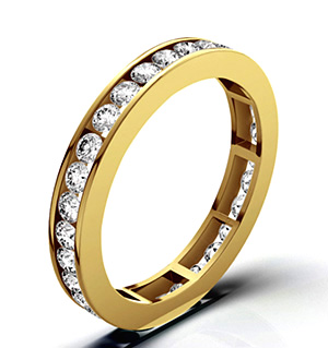 RAE 18K GOLD DIAMOND ETERNITY RING 2.00CT H/SI
