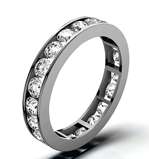 RAE PLATINUM DIAMOND ETERNITY RING 3.00CT H/SI