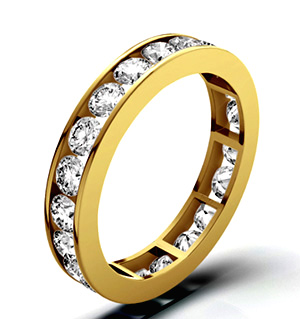 RAE 18K GOLD DIAMOND ETERNITY RING 3.00CT H/SI