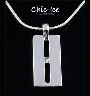 Chic Ice Diamond Designer Silver Milano Necklace