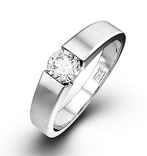 Jessica 18K White Gold Diamond Engagement Ring 0.33CT-G-H/SI