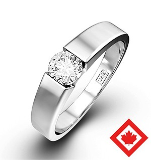 Jessica 18K White Gold Canadian Diamond Ring 0.50CT H/SI2