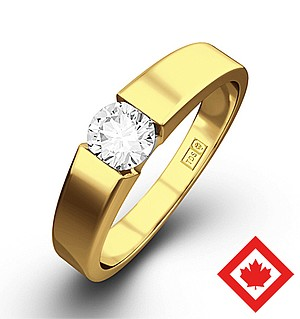 Jessica 18K Gold Canadian Diamond Ring 0.50CT G/VS2