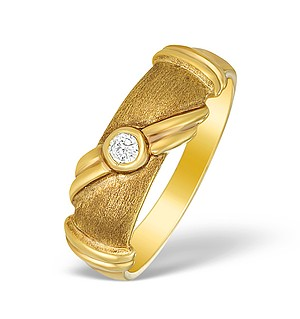 9K Gold Diamond Solitaire Ring - A3802
