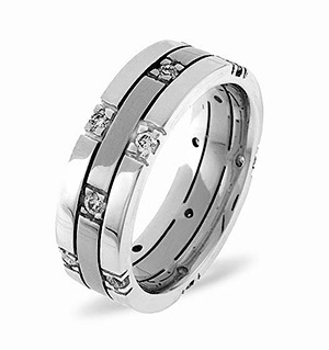 Amy Platinum Diamond Wedding Ring 0.37CT G/VS