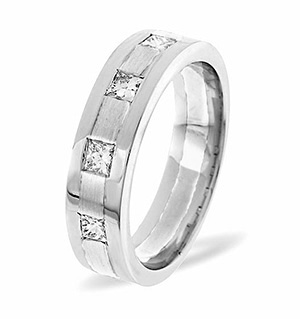 Lauren 4 Stone Palladium Diamond Wedding Ring 0.35CT G/VS