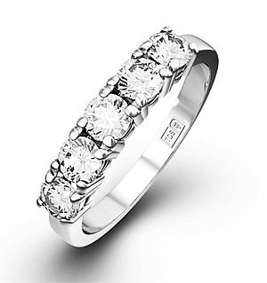 Chloe 18K White Gold 5 Stone Diamond Eternity Ring 1.00CT G/VS