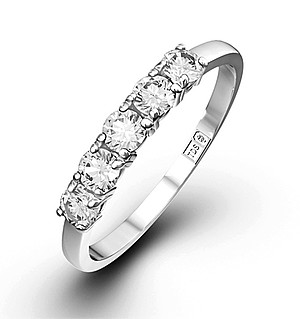 Chloe 18K White Gold 5 Stone Diamond Eternity Ring 0.50CT G/VS
