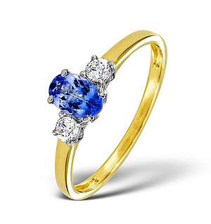 18K Gold Diamond Tanzanite Ring 0.20ct