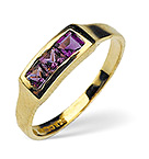 AMETHYST 0.42CT 9K YELLOW GOLD RING