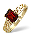 Garnet Ring African Garnet 9K Yellow Gold