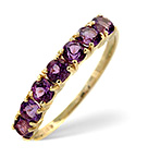AMETHYST 0.63CT 9K GOLD RING