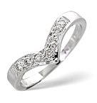 Diamond 0.11CT 9K White Gold Wishbone Ring