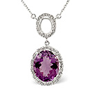 Amethyst Pendants And Necklaces