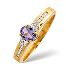 Tanzanite 0.32CT And Diamond 9K Gold Ring