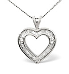 HEART PENDANT 0.50CT DIAMOND 9K WHITE GOLD