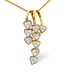 FANCY PENDANT 0.23CT DIAMOND 9K YELLOW GOLD