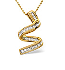 TWIRL NECKLACE 0.16CT DIAMOND 9K YELLOW GOLD