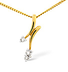 FANCY PENDANT 0.10CT DIAMOND 9K YELLOW GOLD