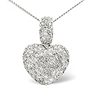 HEART PENDANT 1.20CT DIAMOND 9K WHITE GOLD