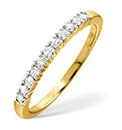 Half Eternity Ring 0.30CT Diamond 9K Yellow Gold