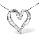 HEART PENDANT 0.33CT DIAMOND 18K WHITE GOLD
