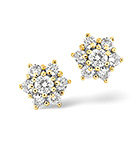 18K GOLD DIAMOND EARRING 0.50CT H/SI