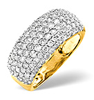 18K YELLOW GOLD DIAMOND RING 1.35CT
