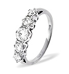 Grace 18K White Gold 5 Stone Diamond Eternity Ring 0.33CT PK