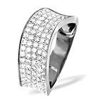 18K WHITE GOLD DIAMOND PAVE RING 0.63CT H/SI