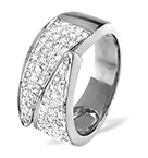 18K WHITE GOLD DIAMOND PAVE RING 0.62CT H/SI