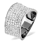 18K WHITE GOLD DIAMOND PAVE RING 0.89CT H/SI