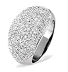 18K WHITE GOLD DIAMOND PAVE RING 1.29CT H/SI