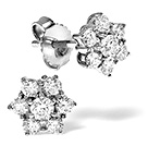 18K White Gold Diamond Earring 0.50ct H/si
