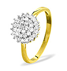9K GOLD DIAMOND CLUSTER RING 0.50CT