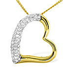 HEART PENDANT 0.29CT DIAMOND 9K YELLOW GOLD