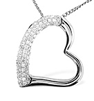 HEART PENDANT 0.29CT DIAMOND 9K WHITE GOLD