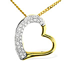 HEART PENDANT 0.19CT DIAMOND 9K YELLOW GOLD
