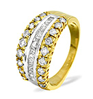Half Eternity Ring 1.00CT Diamond 9K Yellow Gold