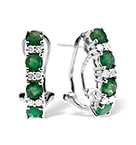 9KW DIAMOND EMERALD EARRINGS 0.16CT