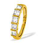Lauren 18K Gold 5 Stone Diamond Eternity Ring 1.00CT G/VS