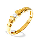 9K GOLD DIAMOND RING (0.07CT)