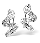 Twirl Earrings 0.28CT Diamond 9K White Gold