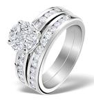 Matching Diamond Engagement and Wedding Ring 1.46ct Platinum - DN3223